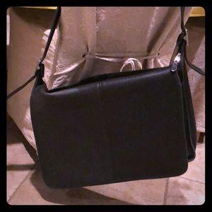 Coach Black Leather Messenger Bag
